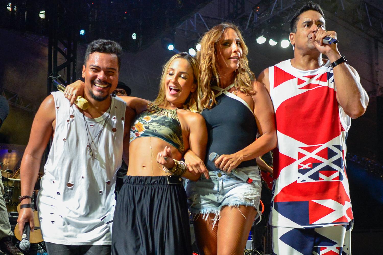 Bruno Cardoso, Claudia Leitte, Ivete Sangalo e Xanddy em show em Salvador, na Bahia