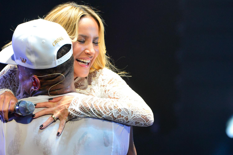Léo Santana e Claudia Leitte em show em Salvador, na Bahia