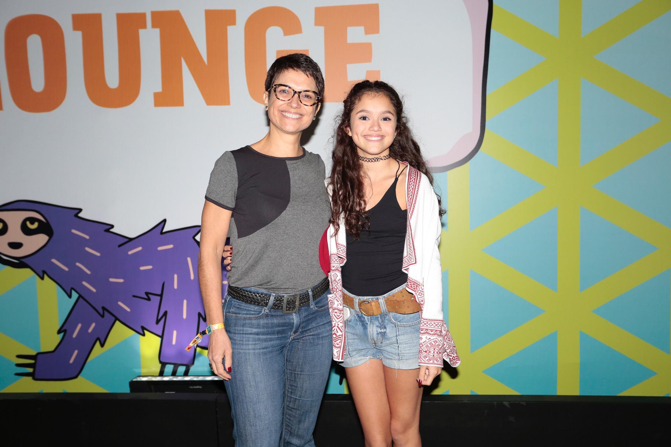 Sandra Annenberg e filha Elisa Paglia no Lollapalooza
