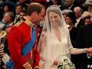 'Você está linda', disse William para Kate no altar (PA)