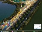Veja o mapa da Cidade do Rock (Arte G1)