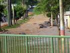 Chuva de meia hora provoca estragos em Patos de Minas, MG