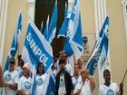 Policiais Civis de Sergipe realizam manifestação em frente a SSP