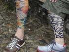 Falsa tatuagem vira 'febre' no centro histórico (Raquel Freitas/G1)