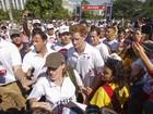 No Aterro do Flamengo, no Rio, príncipe Harry participa de corrida