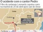 Cantor Pedro não teve alteração médica durante voo, diz assessora