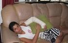 Menino ferido volta a receber alta, diz mãe (Patrícia Kappen/G1)