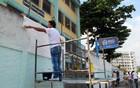 Escola de  é pintada de branco (Bernardo Tabak/G1)