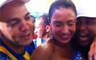 Com Belo, Gracyanne comemora (Thassia Thum/G1)