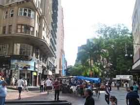 Rua dos Andradas (Foto: Luiza Carneiro, RBS TV)