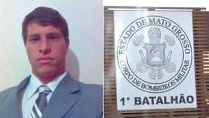 Bombeiro Júlio Lopes, de Cuiabá (MT) (Foto: Arquivo pessoal)