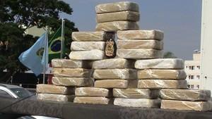 PF apreende 27 kg de cocaína em MT (Foto: PF/MT)