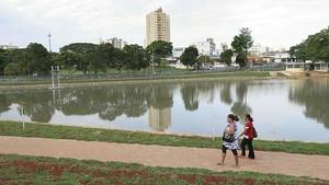 Lago das Rosas possui elementos representativos do estilo Art Déco. (Foto: Renato Conde)