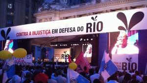 Ato reúne 150 mil na Cinelândia (Paulo Toledo Piza / G1)