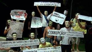 Marcha contra a corrupção em Salvador (Foto: Imagem/TV Bahia)