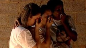 Clima era de tristeza no velório de Andre, em Colatina. (Foto: Reprodução/TV Gazeta)