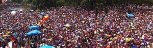 Bangalafumenga atrai multidão à Marina da Glória (Diogo Bessa/G1)