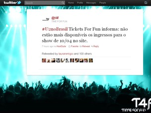 Página da T4F no Twitter