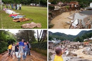 Imagens dos efeitos das chuvas em Teresópolis (RJ)