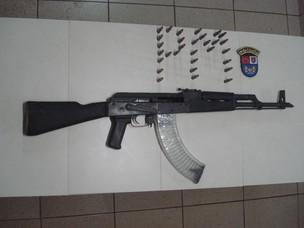 Fuzil de uso exclusivo das forças armadas  (Foto: Divulgação PM)