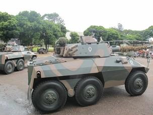 Tropas do Exército na segurança de Obama (Foto: Sandro Lima/G1)