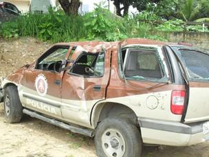 PM investiga causas do acidente que matou policial em Salvador (Foto: Gilson Santos/VC no G1)
