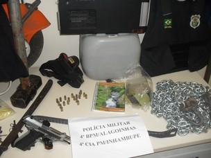 assalto a banco na bahia (Foto: Divulgação/Polícia Militar)