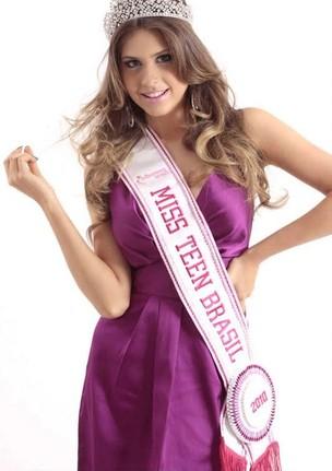 A alagoana Gabriele Marinho, 17 anos, vencedora do Miss Teen World foi também Miss Teen Brasil 2010 (Foto: Andréa Moreira/Divulgação)