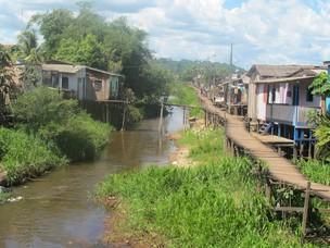 De acordo com os estudos de impacto ambiental, cerca de 4 mil famílias moram em palafitas. Empresa que constroi usina começou neste mês recontagem das famílias (Foto: Mariana Oliveira / G1)