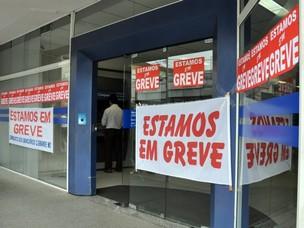 A estimativa é que bancários das 150 agências participem da paralisação, diz Sindicato (Foto: Tatiane Queiroz/ G1 MS)