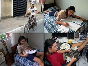 Rafael Santiago se divide entre estudo, diversão e malhação, sem tirar o olho do Enem (Foto: Vanessa Bahé/G1)