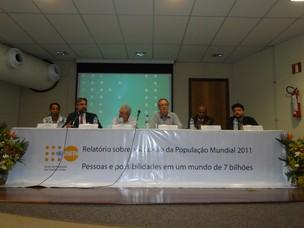 Fundo de População das Nações Unidas (UNFPA) divulga relatório sobre população de 7 bilhões em Belo Horizonte (Foto: Alex Araújo/G1)