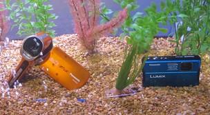 Câmeras da CES 2012 são à prova da água e podem aguentar até 10m de profundidade. (Foto: Gustavo Petró/G1)