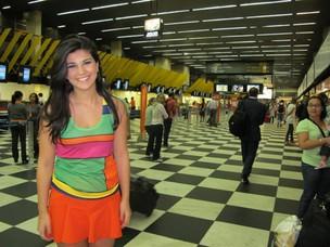Após voltar do Canadá e passar alguns dias em SP, Luiza enfim volta a Paraíba (Foto: Paulo Toledo Piza/G1)