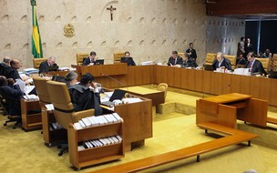 Plenário do Supremo durante análise de limites ao poder do CNJ (Foto: Nelson Jr. / SCO / STF)