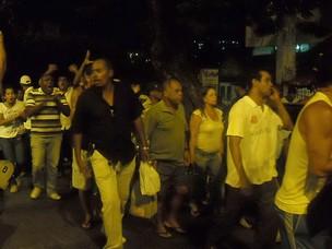 PMs decidem continuar em greve após assembleia na Bahia (Foto: Lílian Marques/ G1)