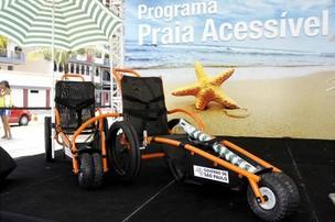 Cadeira anfíbia possibilitará  (Foto: Divulgação / Governo SP)