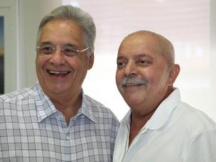 Lula recebeu a visita de Fernando Henrique no hospital (Foto: Ricardo Stuckert/Instituto Lula)