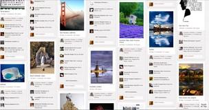 Imagens publicadas no Pinterest aparecem como se estivessem afixadas em um mural (Foto: Reprodução)