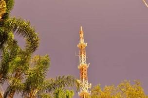 Antena de Televisão em Campinas (Foto: Luciano Calafiori/G1 Campinas)