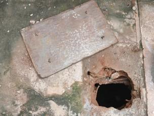 Família usava bomba como 'ferrinho para segurar porta' em MS (Foto: Gabriela Pavão/G1 MS)