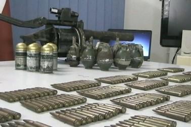 Todas as armas estão com a numeração raspada (Foto: Reprodução TV Amazonas )