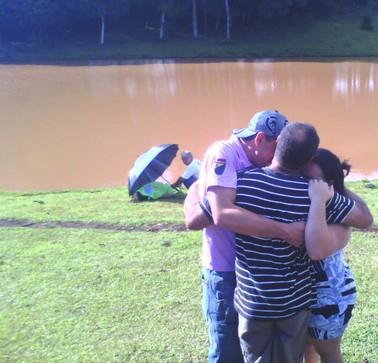 Afogamento Coxilha, norte do RS (Foto: Zete Padilha)