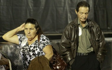 Pais de Jean Charles de Menezes no show de Roger Waters (Foto: Wesley Santos/Press Digital)