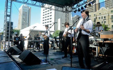 Banda Beatles 4Ever se apresenta na Virada Cultural neste domingo (17) (Foto: Flavio Moraes/G1)