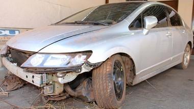Carro do analista foi encontrado em Sertãozinho, no interior de SP (Foto: Luis Cleber/AE)