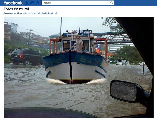 Sátira da chuva em Salvador (Foto: Reproduçã/Redes Sociais)