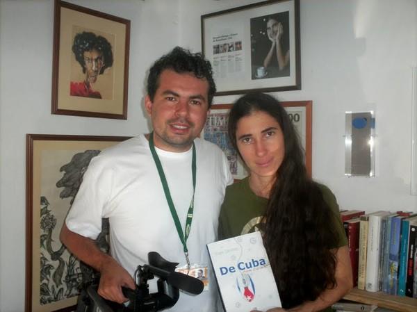 Dado e Yoani Sanchez (Foto: Reinaldo Escobar/Aquivo Pessoal)
