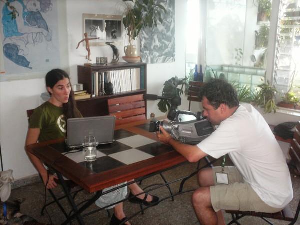 Dado e Yoani Sanchez (Foto: Divulgação)