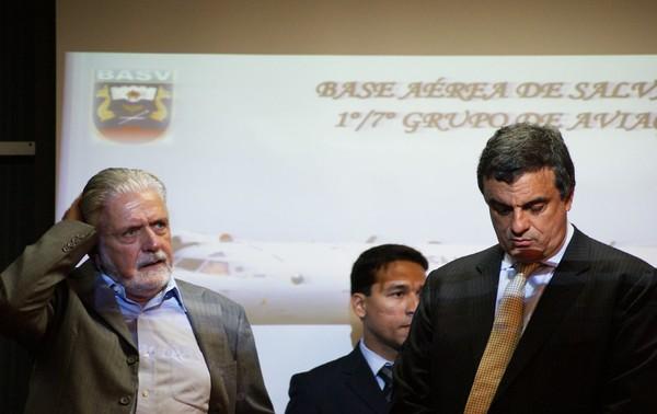 Ministro da Justiça e Jaques Wagner em Salvador (Foto: Egi Santana/G1)